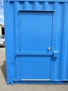 Main door with lock bar